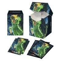 Combo Magic Deck Box + 100 Sleeves Zendikar Rising Obuun, Mul Daya Ancestor (100+ Deck Box) von Ultra Pro