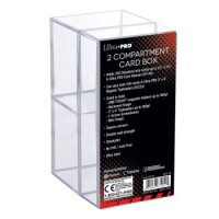 Ultra Pro 2 Compartment Clear Card Box
