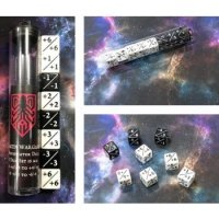 Kraken Wargames Würfel - Positive/Negative D6 Dice 16 mm (8 Dice in Tube)
