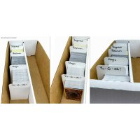 10 Arkero-G Kartentrenner Weiß - Groß (10 Tall Card Dividers for Storage Boxes)