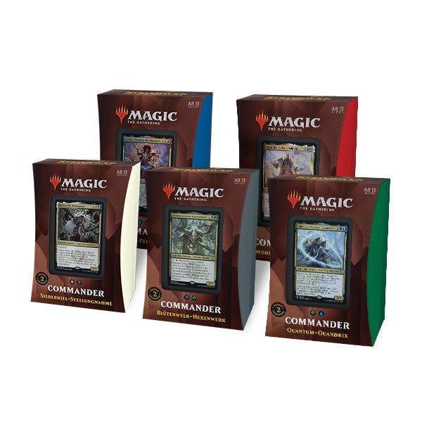 Strixhaven: Akademie der Magier Commander Deck Display (alle 5 Decks, deutsch)