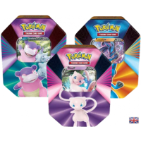 Alle 3 Pokemon Spring Tins 2021: Slowbro-V, Mew-V und Lucario-V (englisch)
