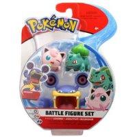 Krakeelo & Pummeluff & Bisasam 5 cm - Pokemon Battle Figuren von WCT