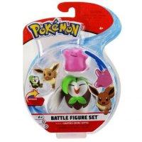 Arboretoss & Evoli & Ditto 5 cm - Pokemon Battle Figuren von WCT