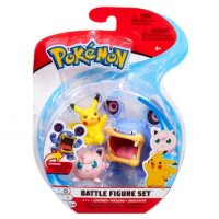 Krakeelo & Pikachu & Pummeluff 5 cm - Pokemon Battle Figuren von WCT