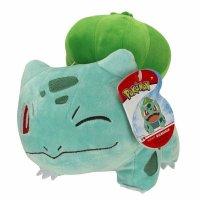 Bisasam (zwinkernd) Plüschfigur 20 cm - Pokemon Kuscheltier von Wicked Cool Toys
