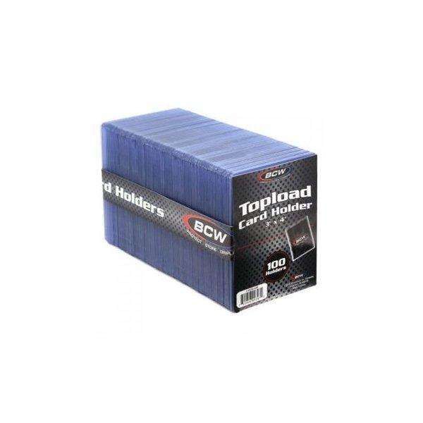 BCW Standard Toploader 3x4 Zoll (extrem dicke Schutzhüllen) - 100 Stück