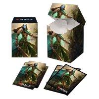 Combo Magic Deck Box + 100 Sleeves Kaldheim, Lathril, Blade Of The Elves (100+ Deck Box) von Ultra Pro