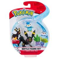 Nachtara, Myrapla & Plinfa - Pokemon Battle Figuren Dreierpack von BOTI