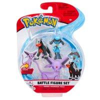 Psiana, Hunduster & Riolu - Pokemon Battle Figuren Dreierpack von BOTI