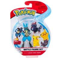 Lucario, Zorua & Pikachu - Pokemon Battle Figuren Dreierpack von BOTI