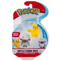 Pikachu, Wolly Pokemon Battleset Figure 4 cm von BOTI