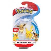 Pikachu, Evoli Pokemon Battleset Figure 4 cm von BOTI