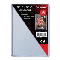 Ultra Pro Toploader 89mm x 130mm (25 dicke Schutzhüllen)