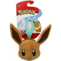 Evoli Clip-on Plüschfigur 10 cm - Pokemon Kuscheltier von Wicked Cool Toys