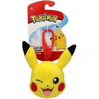 Pikachu (Zwinkernd) Clip-on Plüschfigur 10 cm - Pokemon Kuscheltier von Wicked Cool Toys