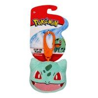 Bisasam Clip-on Plüschfigur 6 cm - Pokemon Kuscheltier von Wicked Cool Toys