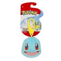 Schiggy Clip-on Plüschfigur 6 cm - Pokemon Kuscheltier von Wicked Cool Toys
