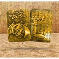 Yu-Gi-Oh! 24 Karat Gold plattiert Metallplatte Slifer The Sky Dragon *LIMITIERTE EDITION*