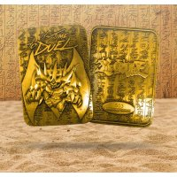 Yu-Gi-Oh! 24 Karat Gold plattiert Metallplatte Obelisk The Tormentor *LIMITIERTE EDITION*