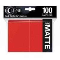 Ultra Pro Eclipse Sleeves - Rot Matt (100 Kartenhüllen)